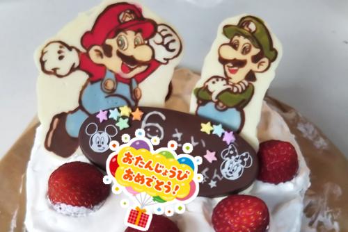 手作りのマリオのキャラクターケーキ