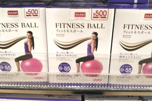 ダイソーのフィットネスボール
