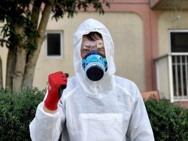 ハチの駆除の服